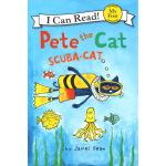 I can read 1 Pete the Cat: Scuba-Cat 皮特猫系列 潜水 英文原版 儿童启蒙绘本