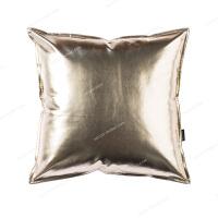 金属色皮抱枕沙发办公室pu仿皮质靠枕汽车护腰靠垫腰枕床头靠背 LG-01 香槟金