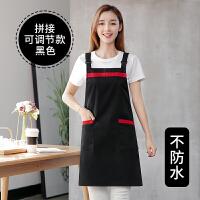 围裙厨房防水防油可爱工作服韩版时尚家用围腰男女定制印LOGO