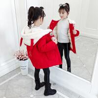女童加厚棉衣棉袄2019新款童装儿童大衣外套
