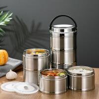 黎贝卡304不锈钢保温饭盒真空长效便携餐盒上班族多层大容量便当保温桶