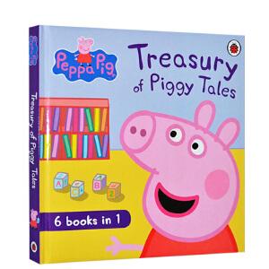 #Peppa Pig 英文原版绘本 小猪佩奇动画故事书 Treasury of Piggy Tales 粉红佩佩猪小妹 主题绘本6合1故事合辑 3-6岁 进口儿童书