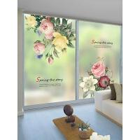 玻璃贴膜防窥 磨砂玻璃贴膜卫生间浴室窗贴阳台透光不透明窗花窗户贴纸遮光n