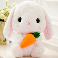 2018新款 可爱垂耳兔公仔毛绒玩具小白兔子布娃娃长耳兔玩偶兔兔抱枕女生日