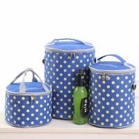 圆形饭盒袋铝箔装碗便当保温桶小号袋子套防水大号手提加厚带饭包