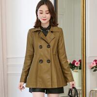 2018新款韩版字型短款外套女秋冬时尚长袖宽松显瘦皮外套潮