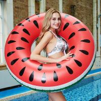 大人腋下圈水上充气浮圈漂浮坐圈大西瓜游泳圈菠萝泳圈