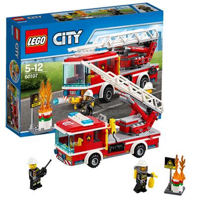 [当当自营]LEGO 乐高 城市系列 云梯消防车 积木拼插儿童益智玩具 60107【当当自营】2016年新品!适合5-12岁,214pcs小颗粒积木