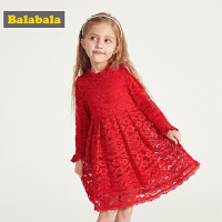 巴拉巴拉童�b女童�B衣裙春季2019新款小童����蕾�z裙子�和�公主裙