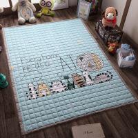 儿童地垫 爬行垫全棉环保加厚宝宝爬行垫儿童爬爬垫折叠地垫防滑机洗家用卧室客厅 150*200cm