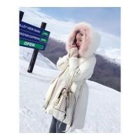 【真正的羽绒服,真毛领,*赔十】冬装新款韩版中长款羽绒服女潮