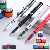 透明彩色墨水钢笔学生用礼盒套装 优尚特细男女士练字办公用