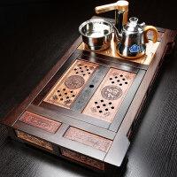 【新品】家用简约大号花梨实木茶盘功夫茶具茶台茶海全自动电磁炉 木聚福茶盘带电器