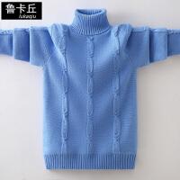 2019冬季中大童针织衫儿童打底线衣男童加绒加厚高领套头毛衣