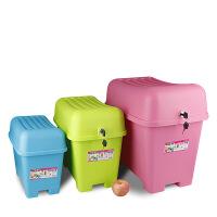 【好货】儿童玩具收纳箱带锁创意收纳凳储物凳塑料换鞋凳水浴室凳子