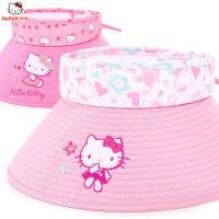 【4折价:27.6元】HelloKitty凯蒂猫女童帽子儿童太阳帽遮阳宝宝大帽檐防晒空顶帽
