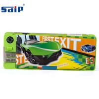 sdip智力 EM3002 A绿色 儿童笔盒男童小学生卡通文具笔盒韩国简约大容量铅笔袋 当当自营