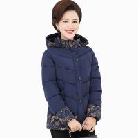中年女妈妈冬装羽绒短款棉袄40岁50气质加厚外套中老年棉衣60