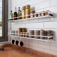 304不锈钢厨房置物架免打孔壁挂收纳架调料架厨房用品挂架层架