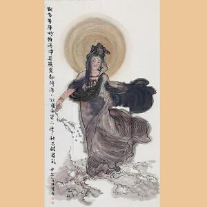 九华山乔觉禅林诗书画院副会长,一诚长老入室弟子 周晶(佛像)ZH265