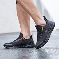 361男鞋运动鞋2021年春季新款轻便透气跑鞋黑色休闲鞋减震跑步鞋