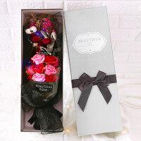 七夕情人礼盒仿真玫瑰花束礼物生日礼物女毕业礼物送女朋友香皂花