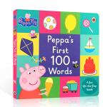 英文原版peppa's first 100 words佩奇100词英语启蒙翻翻书