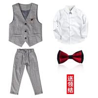 男童西装套装儿童西服套装小西装花童礼服男童西装两件套中大童钢琴演出服表演MYZQ59
