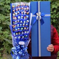 哆啦a梦花束卡通花束礼盒公仔娃娃玩偶花束送女友生日礼物情人节