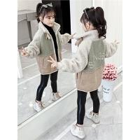 2019新款羊羔毛童装洋气时髦加绒加厚上衣女童秋冬装外套