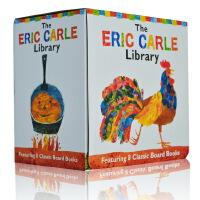 Eric Carle Library 英文原版 艾瑞卡尔的小图书馆 8本纸板书礼盒装