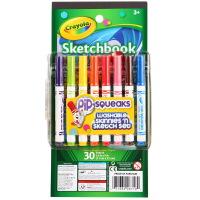 当当自营Crayola 绘儿乐 短杆水笔绘画套装-8色水彩笔和迷你绘画本 58-8718