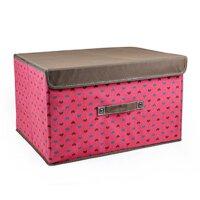 优芬美人心有盖收纳箱 创意衣物整理箱储物箱衣物收纳盒