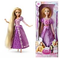 芭比长发公主儿童女生巴比娃娃套装白雪长发美人鱼公主系列玩具生日礼品 12关节约30厘米买一送四十