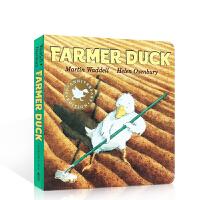顺丰发货 Farmer Duck 鸭子农夫纸板书 Martin Waddell 美国百本必读推荐英文原版绘本 凯特?格林威金奖  送音频