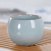 【新品热卖】汝窑茶杯陶瓷个人杯品茗杯日式主人茶杯功夫茶具茶道配件 单杯