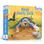 吴敏兰绘本123推荐第68本 暖房子经典绘本系列Bear Feels Sick 纸板书 贝尔熊生病了Karma Wil
