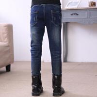 女童牛仔裤加绒加厚新款韩版儿童裤子中大童女孩长裤秋冬外穿冬裤