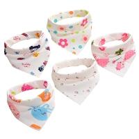 宝宝口水巾婴儿棉三角巾1-2岁婴儿男女孩围嘴棉口水巾男童三角巾