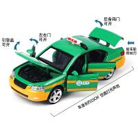 1:32合金六开门出租车 回力声光玩具车的士 男孩仿真金属车