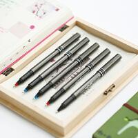 日本UNI三菱中性笔UB-155直液式走珠笔签字笔 三菱0.5mm学生办公用品红蓝黑色水笔签字笔