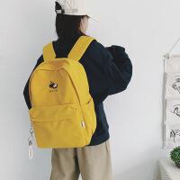 自然鱼双肩包韩版时尚休闲背包学生书包大容量大学生少女电脑包