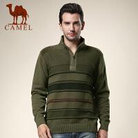 CAMEL 骆驼男装 冬新款立领商务休闲针织衫 男士长袖加厚毛衣