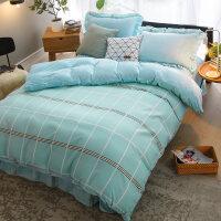 韩版法莱绒四件套加厚法兰绒保暖冬季水晶珊瑚绒被套床单床上用品
