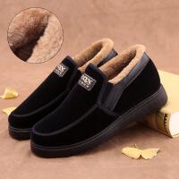 老北京布鞋男冬季棉鞋保暖休闲加厚加绒中老年爸爸老人鞋