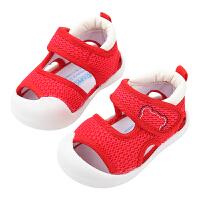0-1-2岁幼儿学步软底鞋男宝宝鞋子婴儿凉鞋女夏包头春网布鞋