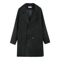 新款大码女装胖mm秋冬呢子大衣200斤中长款韩版显瘦毛呢外套