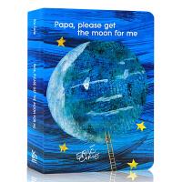 英文原版绘本 Papa Please Get the Moon for Me 爸爸为我摘月亮纸板书 廖彩杏有声书单 E
