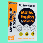 英文原版绘本 Gold Stars Big Workbook Maths English and Science 数学