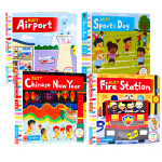Busy系列机关操作书4册Busy Airport/Sports Day/Fire Station/Chinese N
